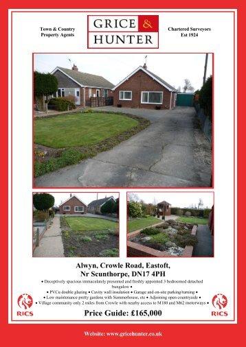 Price Guide: £165000 Alwyn, Crowle Road, Eastoft ... - Grice & Hunter