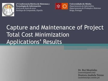 Capture and Maintenance of Project Total Cost Minimization ...