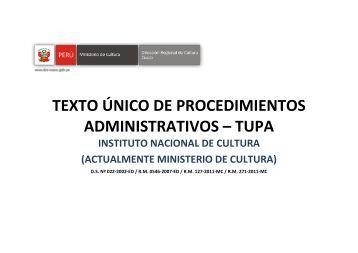 Tupa dicscamec ministerio del interior for Ministerio del interior transparencia