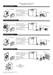 Electromagnetic Door Holder Installation Instruction - GEM,Gianni ...