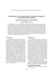 hierarchical classificator: a cognitive approach to decision tree ...