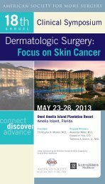 Focus on Skin Cancer - American Society for Mohs Surgery