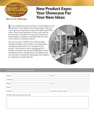 New Product Expo: Your Showcase For Your New Ideas - PLMA