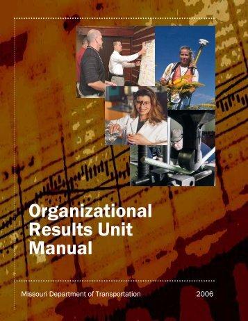 Organizational Results Unit Manual