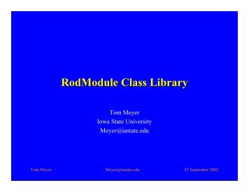 RodModule Class Library - CERN