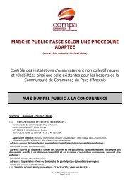 marche public passe selon une procedure adaptee - Compa