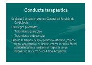 Conducta terapéutica - Hemodinamia