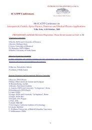 Preliminary Programme - Villa Olmo - Infn