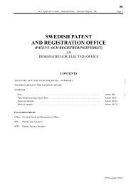 SWEDISH PATENT AND REGISTRATION OFFICE - WIPO