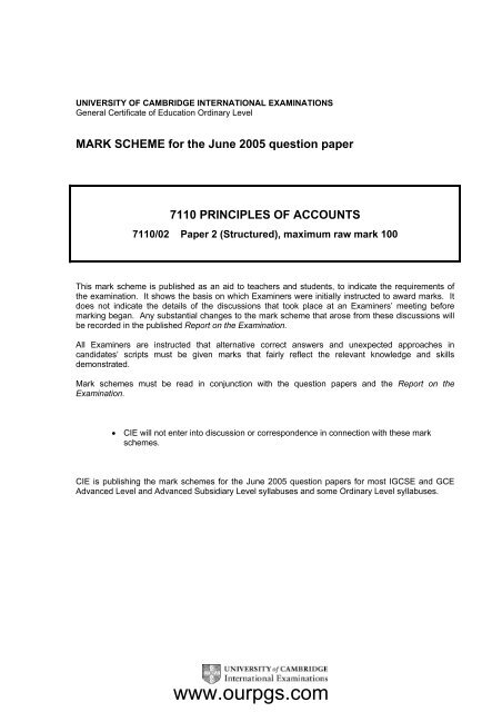Principles Of Accounts MS P2 M J