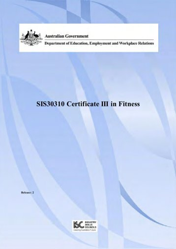 SIS30310 Certificate III in Fitness