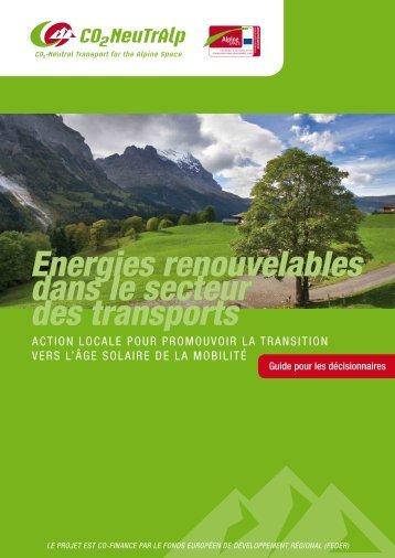 Energies renouvelables dans le secteur des transports - CO2-NeutrAlp