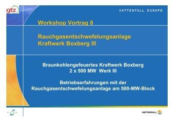 Rauchgasentschwefelungsanlage Kraftwerk Boxberg III ...