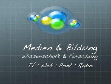 Medien & Bildung - Virtuelle Schule
