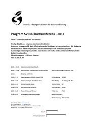 Program SVERD höstkonferens - 2011