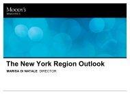 The New York City Outlook - Economy.com