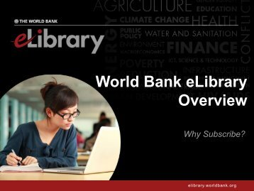 World Bank eLibrary Overview - Renouf Publishing Co. Ltd.