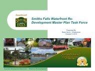 Smiths Falls Waterfront Re- Development Master Plan Task Force