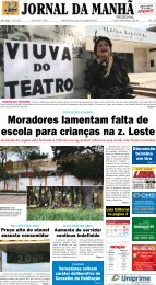 Moradores lamentam falta de escola para ... - Jornal da Manhã