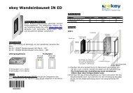 ekey Wandeinbauset IN ED - Antriebe 24