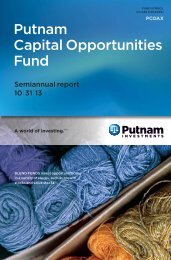 Putnam Capital Opportunities Fund - Putnam Investments