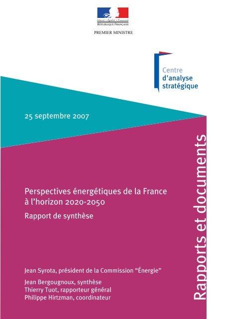 Perspectives énergétiques de la France à l'horizon 2020 ... - Actena