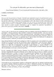 Jorge Enrique Robledo un voto por la soberanía y por ... - Cedetrabajo