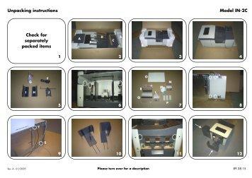 Unpacking Instruction Product(range) - Neopost