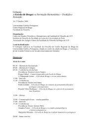 Programa detalhado - Instituto de Filosofia - Universidade do Porto