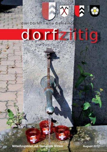 Dorfziitig August 2012 - Gemeinde Winkel