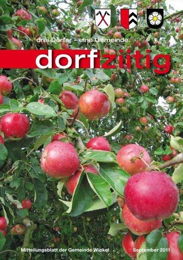 Dorfziitig September 2011 - Gemeinde Winkel