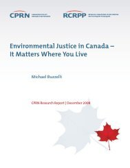 Environmental Justice in Canada – It Matters Where You Live