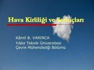 Hava Kirliliği ve Sonuçları - Yıldız Teknik Üniversitesi