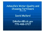 Dr. Mellard Discussion on water Quality and fertilizer Selection
