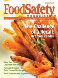 Food Safety Magazine, October/November 2012