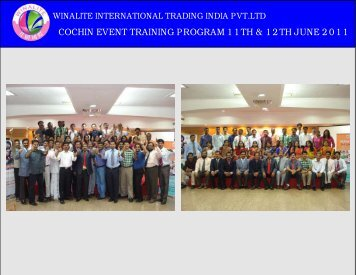 COCHIN EVENT - winalite india home