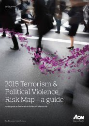 Terrorism Map Regional Summaries 2015