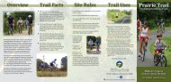 Prairie Trail brochure - McHenry County Conservation District