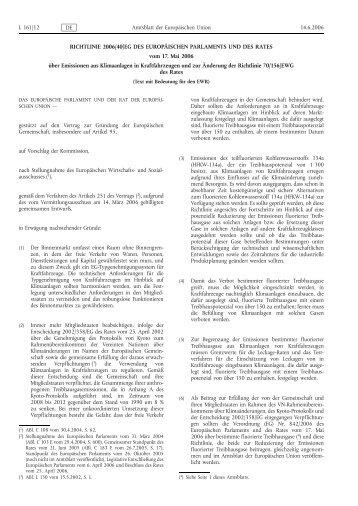Richtlinie 2006/40/EG - Umweltbundesamt