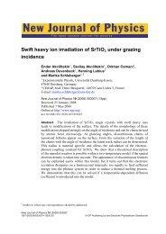 New Journal of Physics - AG Schleberger - Universität Duisburg-Essen