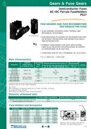 Gears & Fuse Gears - Mersen