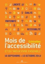 Programme du mois de l'accessibilité - Echirolles
