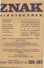Nr 266-267, sierpień-wrzesień 1976 - Znak