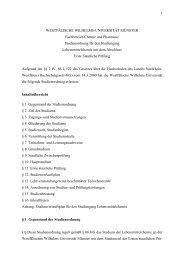 Studienordnung - ZSB - Westfälische Wilhelms-Universität Münster