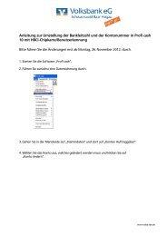 Anleitung zur Umstellung der Bankleitzahl und der ... - Volksbank eG