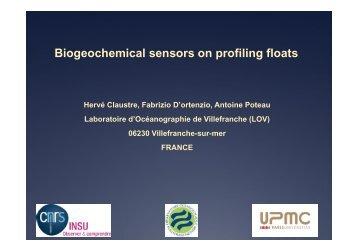 Biogeochemical sensors on profiling floats - Euro-Argo
