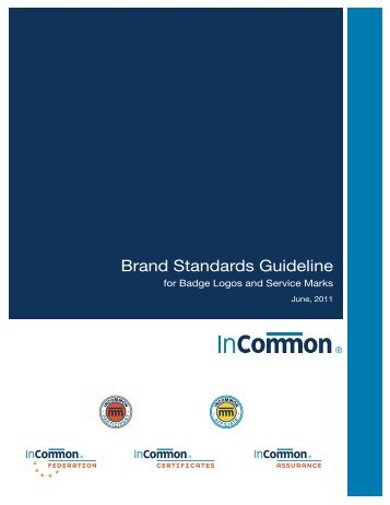 Brand Standards Guideline - InCommon