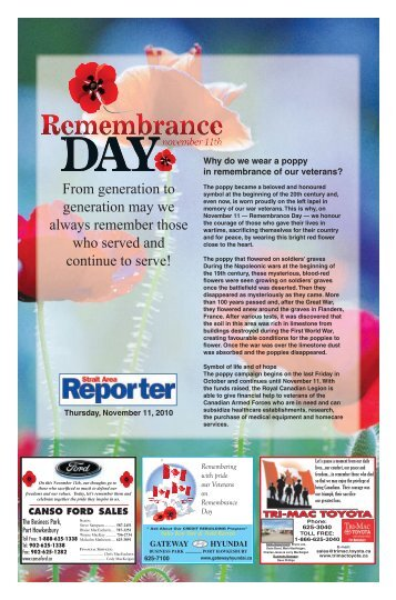 Remembrance Day Tab 2010.pdf - The Pictou Advocate