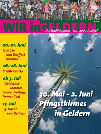 GELDERN dasStadtMagazin Nr.3|2009|Juni|Juli - WIR in Geldern