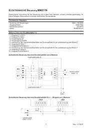ELEKTRONISCHE Steuerung MM2119 - Nothnagel